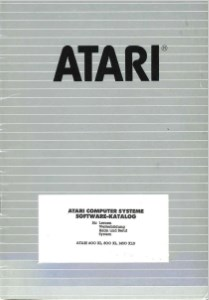 Catalogue Atari Deutschland - 1983